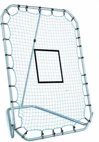 Franklin MLB Adjustable Infinite Angle Return Net - Black/Blue Perspective: front