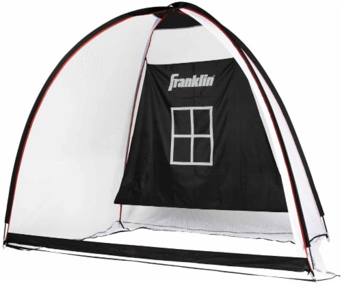 Franklin All-Sport Backstop and Target Net - Black/White/Red Perspective: front