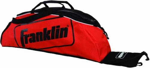 Franklin Junior Baseball and Softball Bat Bag - Red/Black Perspective: front