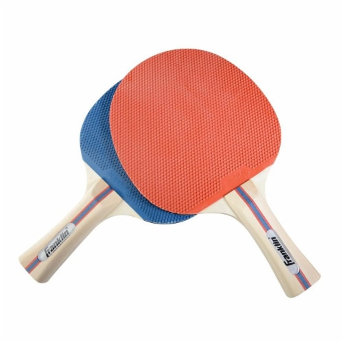 Franklin Two Player Table Tennis Paddle Set - Blue/Red Perspective: front