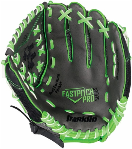 Franklin Fastpitch Pro Series Regular Softball Glove - Lime/Black Perspective: front