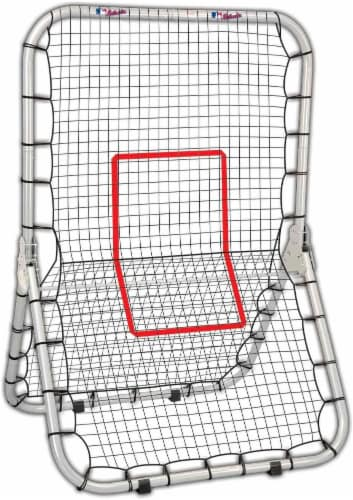 Franklin MLB Junior Deluxe Training Net - Black/Red Perspective: front