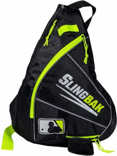 Franklin MLB Slingbak Bag - Black/Optic Yellow Perspective: front