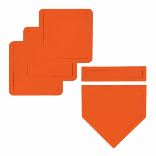 Franklin Deluxe Throw Down Rubber Base Set - Orange Perspective: front