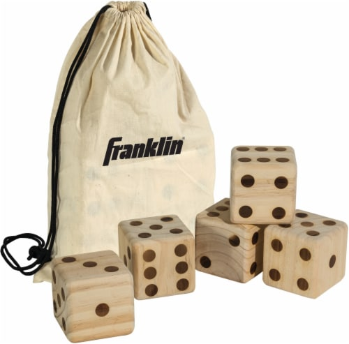 Franklin Wooden Dice Set Perspective: front