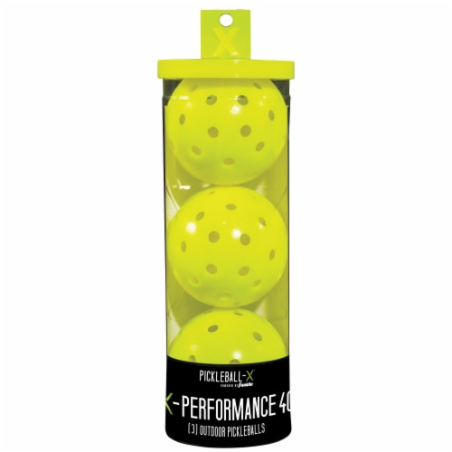 Franklin X-Performance 40 Outdoor Pickleballs - Optic Yellow Perspective: front