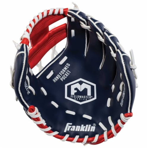 Franklin Field Master Series USA Regular Baseball Glove - Blue/Red Perspective: front