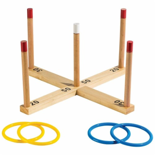 Franklin® Wooden Ring Toss Perspective: front