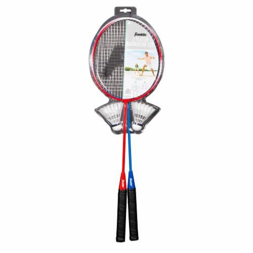 Franklin Badminton Racquet Set - Red/Blue Perspective: front