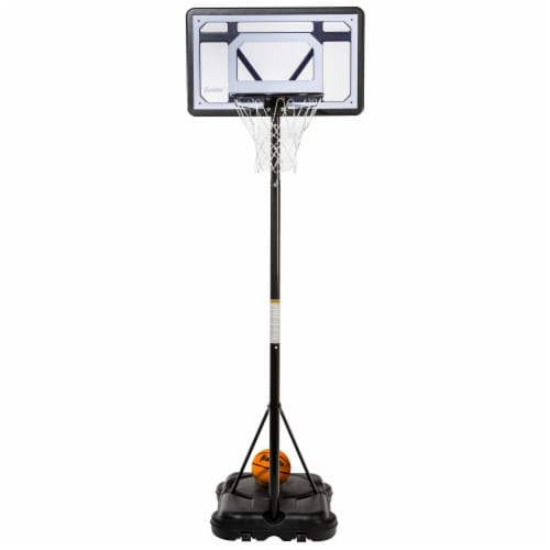 Franklin Adjustable Basketball Hoop - Black/White Perspective: front