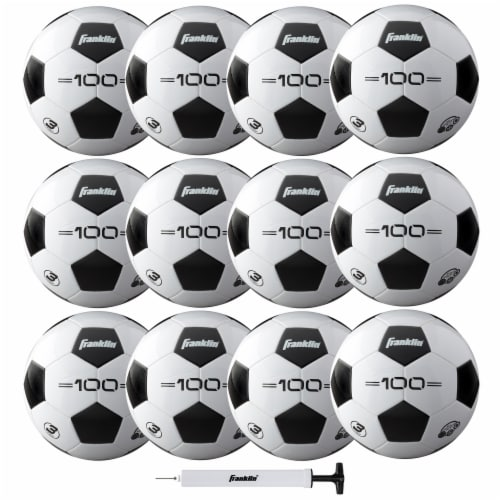 Franklin S3 Competition F-100 Soccer Ball & Pump Set Perspective: front