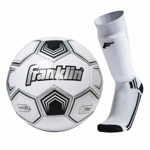 Franklin Size 3 Soccer Starter Set - Youth - White/Black Perspective: front