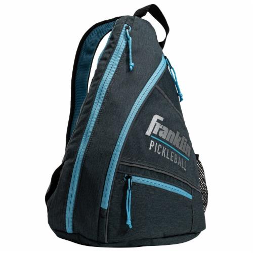 Franklin Pickleball Sling Bag - Gray/Blue Perspective: front