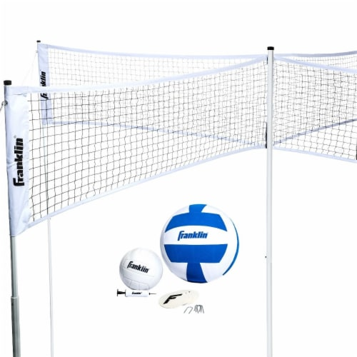 Franklin® Quad Volleyball Set Perspective: front