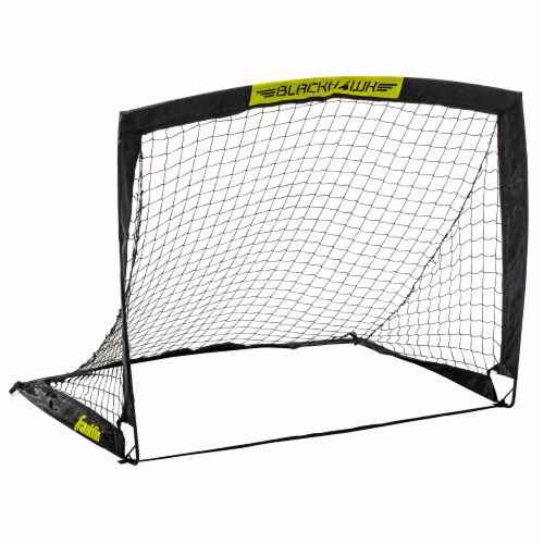 Franklin Blackhawk Soccer Goal - Black/Yellow Perspective: front