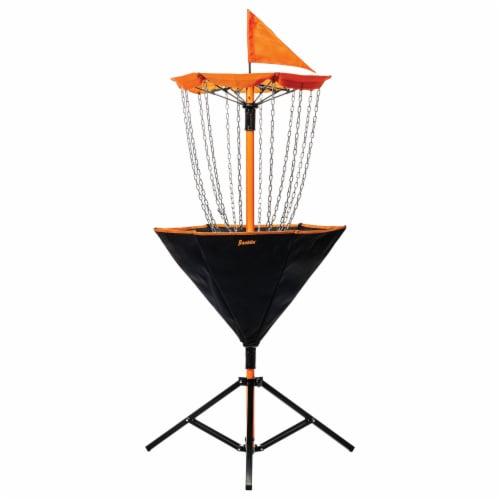 Franklin Metal Chain Disc Golf Target - Black/Orange Perspective: front