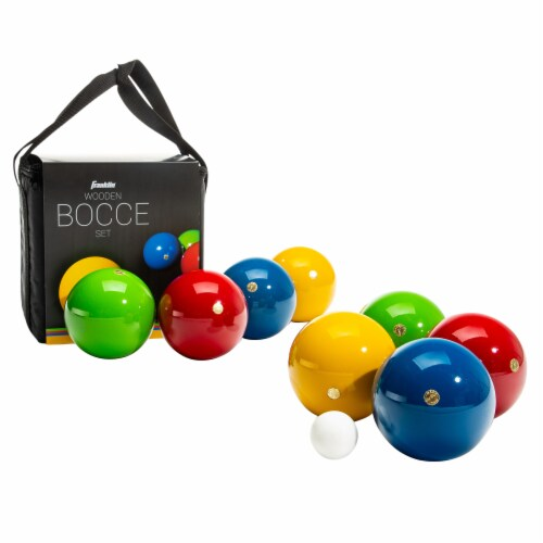 Franklin® Wooden Bocce Set Perspective: front
