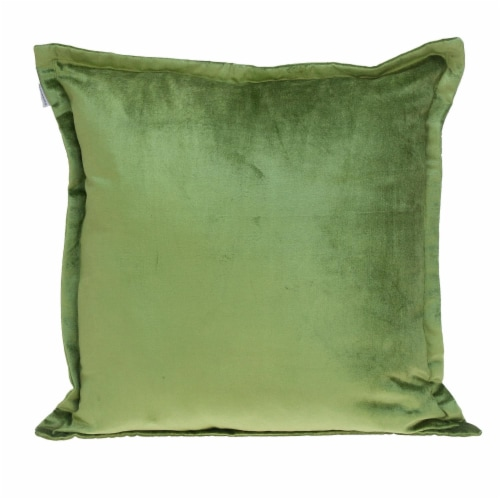 Parkland Collection Agneta Transitional Olive Throw Pillow Perspective: front