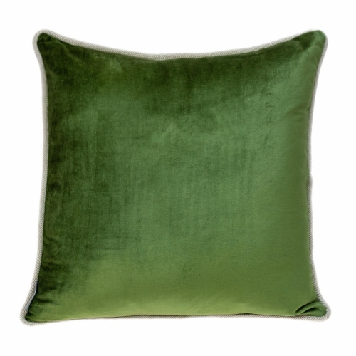 Parkland Collection Maia Transitional Olive Throw Pillow Perspective: front