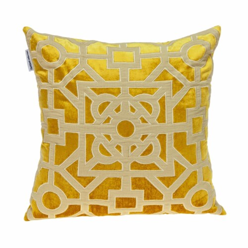 Parkland Collection Hazel Transitional Mustard Yellow Throw Pillow Perspective: front