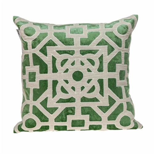 Parkland Collection Hazel Transitional Green/Sage Throw Pillow Perspective: front