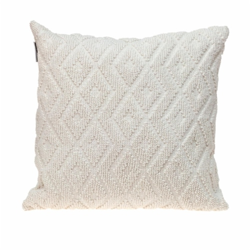Parkland Collection Sorrel Transitional White Throw Pillow Perspective: front