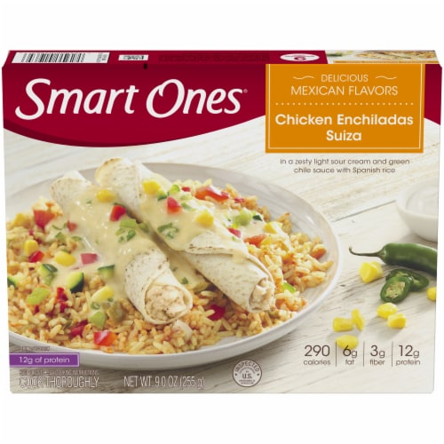 Smart Ones Delicious Mexican Flavors Chicken Enchiladas Suiza Perspective: front