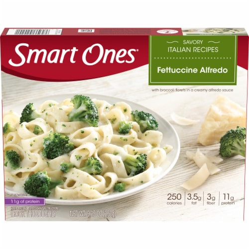 Smart Ones Savory Italian Recipes Fettuccine Alfredo Perspective: front