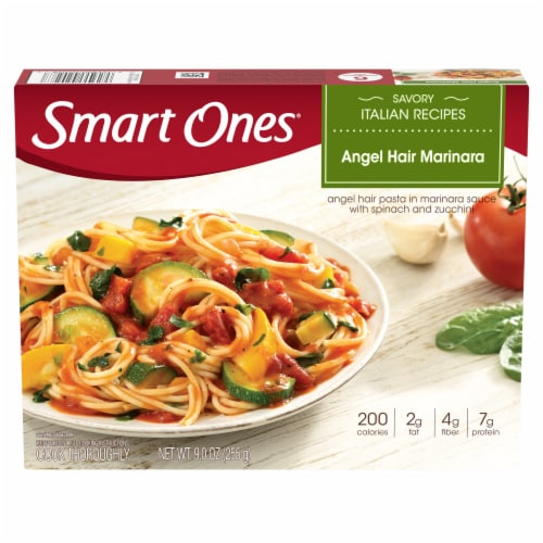 Smart Ones Savory Italian Recipes Angel Hair Marinara Perspective: front