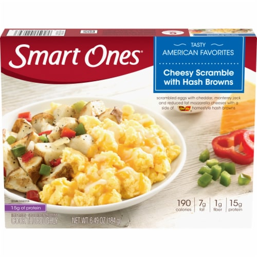 Smart Ones Cheesy Scramble with Hash Browns Frozen Meal Perspective: front