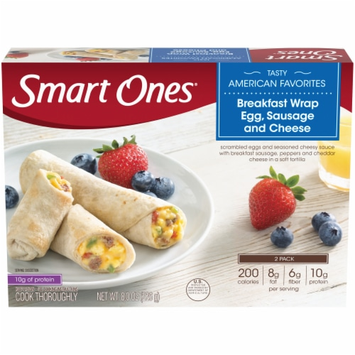 Smart Ones Tasty American Favorites Breakfast Wrap Egg Sausage & Cheese Perspective: front
