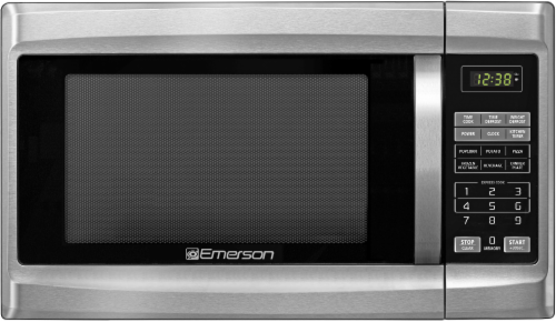 Emerson Professional Series Stainless Steel Microwave Oven - Silver Perspective: front