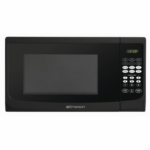 Emerson Touch-Control Microwave Oven - Black Perspective: front