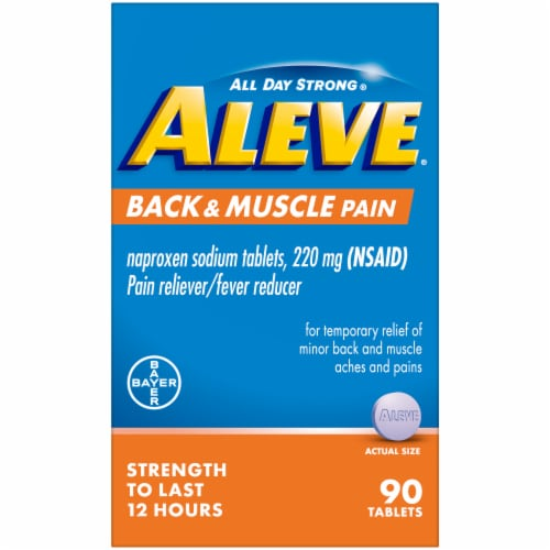 Aleve® Back & Muscle Pain Naproxen Sodium Pain Reliever/Fever Reducer Caplets 220mg Perspective: front