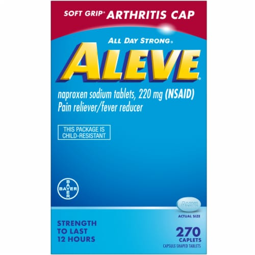 Aleve® Arthritis Cap Pain Reliever & Fever Reducer Caplets 220mg Perspective: front