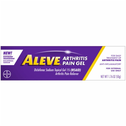 Aleve Arthritis Pain Gel Perspective: front