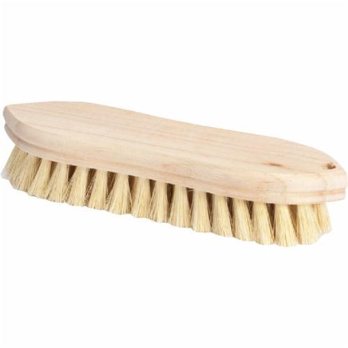 DQB 9 In. Tampico Bristle Hardwood Scrub Brush 11620 Perspective: front