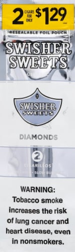 Swisher Sweets Diamonds Cigarillos 2 Count Perspective: front