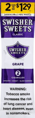 Swisher Sweets Grape Cigarillos 2 Count Perspective: front