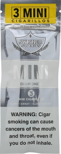 Swisher Sweets Mini Diamonds Cigarillos Perspective: front