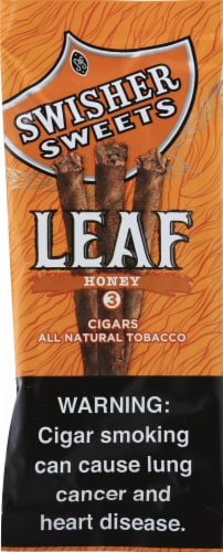 Swisher Sweets Honey Leaf Cigars Perspective: front
