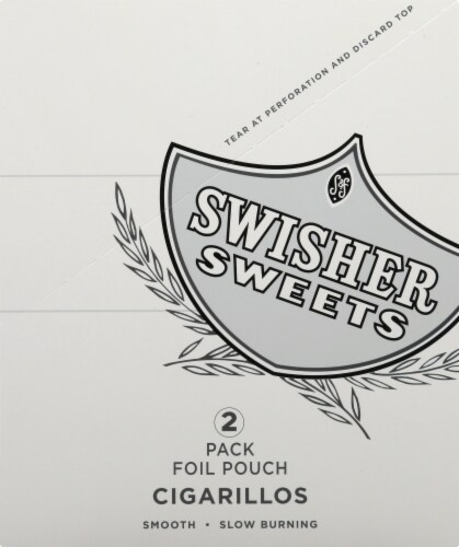Swisher Sweets Silver Cigarillos Perspective: front