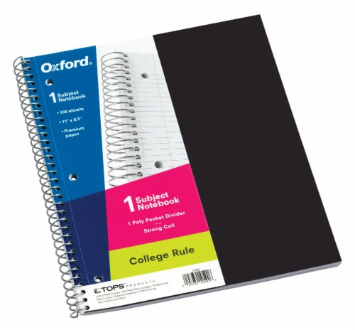 Oxford® 1-Subject College Rule Notebook - 100 Sheet - Assorted Perspective: front