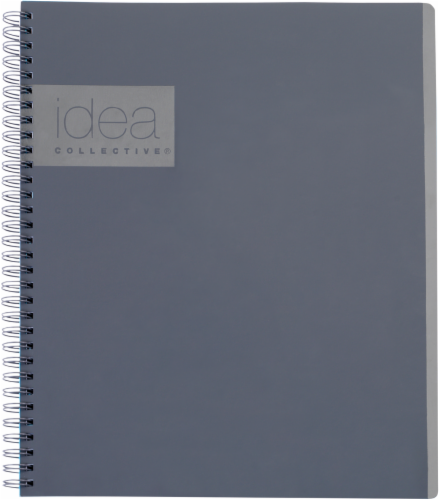 Oxford® The Idea Collective® Double Wire Professional Notebook - 80 Sheets - Gray Perspective: front