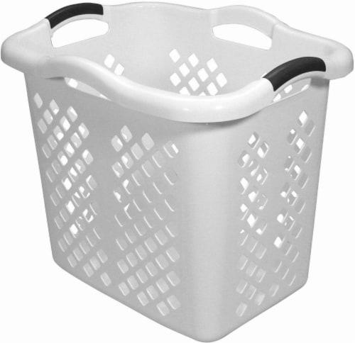 Home Logic 2-Bushel Laundry Hamper - White Perspective: front
