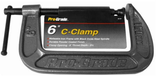 Pro-Grade C-Clamp - 6 x 3.5 Inch Perspective: front