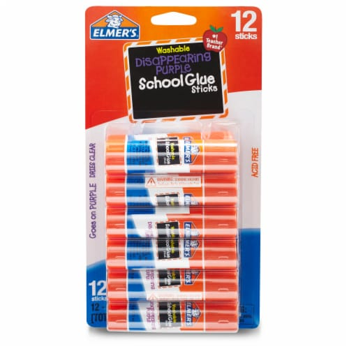 Elmer's Washable School Glue Sticks - Disappearing Purple Perspective: front