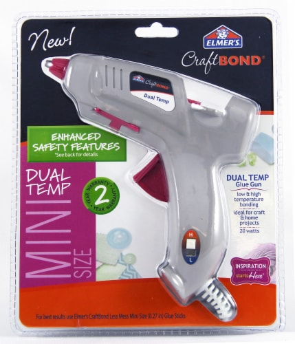 Elmer's Craft Bond Dual Temperature Mini Glue Gun - White Perspective: front