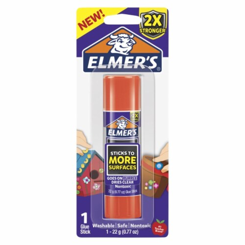 Elmers 2004796 0.77 oz Extra Strength Glue Sticks, Clear Perspective: front