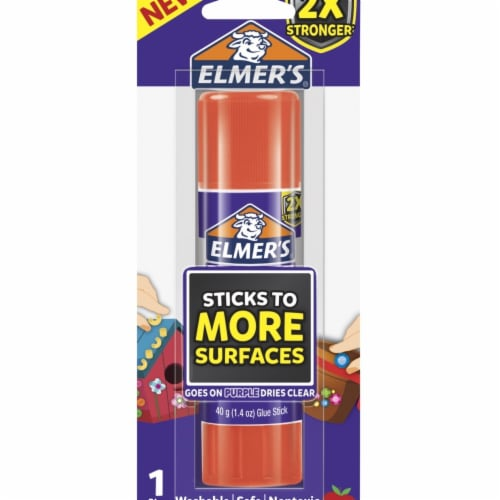 Elmers 2004790 1.41 oz Extra Strength Glue Sticks, Clear Perspective: front